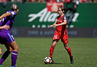 Portland, OR - Saturday April 15, 2017: Meghan Klingenberg during a regular season National Women's Soccer League (NWSL) match between the Portland Thorns FC and the Orlando Pride at Providence Park.