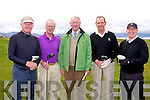 Anton Casey, Teddy Reynolds, Eugene O'Callaghan, Louis Quinlan, John Collins at the Mercy Mounthawk Secondary School Golf Classic Fundraiser at Tralee Golf Club on Friday