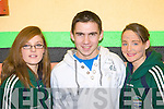 Vanessa McAlleese, Michael Keating and Ailish O'Shea Portmagee competing at the KDYS Variety show county finals in the Aras Padraig Killarney on Saturday