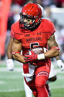 College Park, MD - NOV 12, 2016: Maryland Terrapins running back Ty Johnson (6) runs the football during game between Maryland and Ohio State at Capital One Field at Maryland Stadium in College Park, MD. (Photo by Phil Peters/Media Images International)