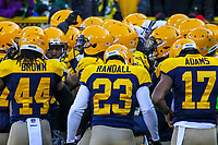 Green Bay Packers players huddle up during a National Football League game against the Baltimore Ravens on November 19th, 2017 at Lambeau Field in Green Bay, Wisconsin. Baltimore defeated Green Bay 23-0. (Brad Krause/Krause Sports Photography)