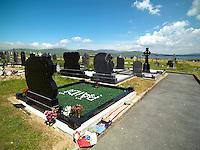 PAIDI O'SE GRAVE IN VENTRY, COUNTY KERRY 2014.<br /> Photo: Don MacMonagle <br /> e: info@macmonagle.com