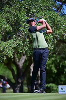 Tony Finau (USA) watches his tee shot on 2 during round 4 of the Valero Texas Open, AT&amp;T Oaks Course, TPC San Antonio, San Antonio, Texas, USA. 4/23/2017.<br /> Picture: Golffile | Ken Murray<br /> <br /> <br /> All photo usage must carry mandatory copyright credit (&copy; Golffile | Ken Murray)