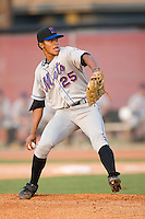 Starting pitcher Oscar Melendez (25) of the Kingsport Mets in action at Howard Johnson Field in Johnson City, TN, Thursday July 3, 2008.