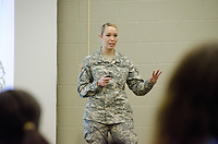 CVM Class of 2012, Dr. Teri Villers now Captain in the US Army, speaks to faculty and students on her military experience, travel, opportunities to perform public health education, community outreach,<br /> and more.