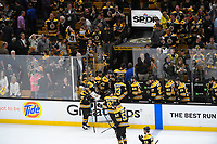June 6, 2019: Boston Bruins defenseman Zdeno Chara (33) heads down the tunnel with teammates at the end of game 5 of the NHL Stanley Cup Finals between the St Louis Blues and the Boston Bruins held at TD Garden, in Boston, Mass. The Blues defeat the Bruins 2-1 in regulation time. Eric Canha/CSM