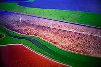 Salt Evaporation Ponds, Hayward, California