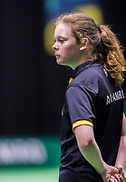 Rotterdam, Netherlands, 11 februari, 2018, Ahoy, Tennis, ABNAMROWTT, Qualifying final, Ballgirl<br /> Photo: Henk Koster/tennisimages.com