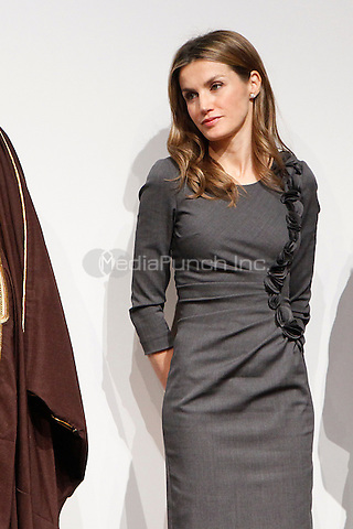 Princess Letizia of Spain attends 'Premios Magisterio 2012' at Caixa Forum in Madrid, Spain. November 29, 2012. (ALTERPHOTOS/Caro Marin) /NortePhoto /MediaPunch Inc. ***FOR USA ONLY***