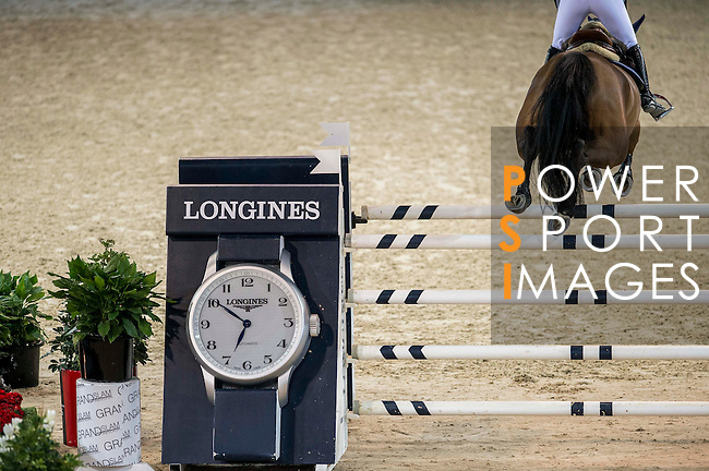Jane Richard Philips of Switzerland riding Pablo de Virton in action during the Hong Kong Jockey Club Trophy competition as part of the Longines Hong Kong Masters on 13 February 2015, at the Asia World Expo, outskirts Hong Kong, China. Photo by Victor Fraile / Power Sport Images