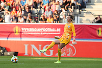20190829 - LEUVEN , BELGIUM : England goal keeper Carly Telford is  pictured during the female soccer game between the Belgian Red Flames and England , The Lionesses , a friendly womensoccer game in the preparation for the European Championship qualification round in group H for England 2021, Tuesday 29 th August 2019 at the King Power Stadion Den Dreef in Leuven , Belgium. PHOTO SPORTPIX.BE | SEVIL OKTEM