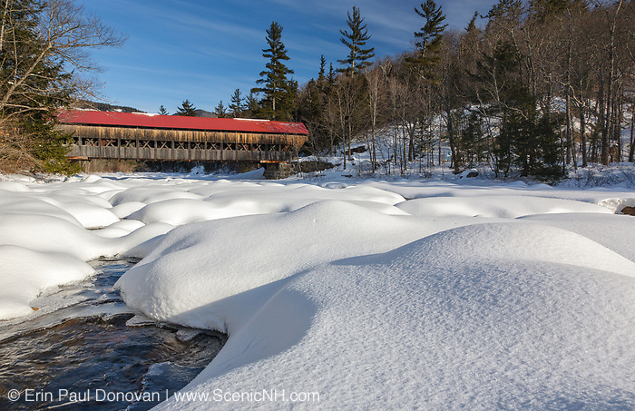 Albany Covered Bridge which crosses the Swift River in Albany, New Hampshire, USA just off of the Kancamagus Highway.
