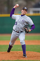 Relief pitcher Steven Schils #25 of the High Point Panthers in action versus the North Carolina A&T Aggies at War Memorial Stadium March 16, 2010, in Greensboro, North Carolina.  Photo by Brian Westerholt / Four Seam Images