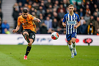 7th March 2020; Molineux Stadium, Wolverhampton, West Midlands, England; English Premier League, Wolverhampton Wanderers versus Brighton and Hove Albion; Rubén Neves of Wolverhampton Wanderers threads a pass into the box