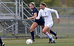 BROOKINGS, SD - OCTOBER 12: Diana Potterveld #7 from South Dakota State pushes the ball past Libby Shriver #5 from Oral Roberts University in the first half of their game Sunday afternoon at Fischback Soccer Field in Brookings. (Photo by Dave Eggen/Inertia)