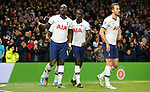 Tottenham's Moussa Sissoko ( L) celebrates after he scores to make it 3-0 during the Premier League match at the Tottenham Hotspur Stadium, London. Picture date: 30th November 2019. Picture credit should read: Paul Terry/Sportimage