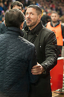 Atletico de Madrid´s Diego Pablo Simeone during 2014-15 La Liga match between Atletico de Madrid and Villarreal at Vicente Calderon stadium in Madrid, Spain. December 14, 2014. (ALTERPHOTOS/Luis Fernandez) /NortePhoto