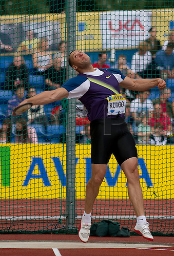 14th Aug 2010, Crystal Palace, Crystal Palace, Samsung Diamond League, Diamond League Athletics, Zoltan Kovago of HUN finished 2nd in the discus with 65.54