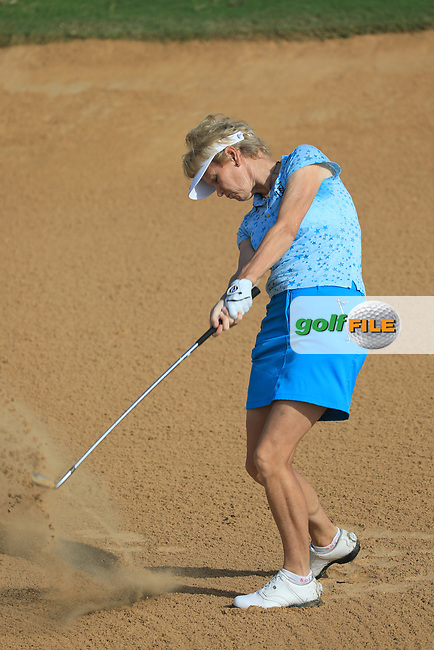 Trish Johnson (ENG) during the first round of the Fatima Bint Mubarak Ladies Open played at Saadiyat Beach Golf Club, Abu Dhabi, UAE. 10/01/2019<br /> Picture: Golffile | Phil Inglis<br /> <br /> All photo usage must carry mandatory copyright credit (&copy; Golffile | Phil Inglis)
