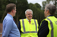 Pictured: First Minister for Wales Carwyn Jones. Friday 23 June 2017<br /> Re: First Minister for Wales Carwyn Jones has joined Sir Terry Matthews, Chairman of the Celtic Manor Resort; Stephen Bowcott, Chief Executive of Sisk Group Construction; and Debbie Wilcox, Leader of Newport City Council, to break ground on the site of the new ICC Wales.<br /> Around 80 invited guests from the public and private sectors of the events industry have also witnessed the ground breaking ceremony which marks the official start of the construction of the new venue, due to open in 2019.<br /> The dignitaries will use commemorative spades to symbolically dig the first ground on the new site, marking the start of building work in earnest.