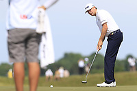 Trey Mullinax (USA) putts on the 6th green during Friday's Round 2 of the 117th U.S. Open Championship 2017 held at Erin Hills, Erin, Wisconsin, USA. 16th June 2017.<br /> Picture: Eoin Clarke | Golffile<br /> <br /> <br /> All photos usage must carry mandatory copyright credit (&copy; Golffile | Eoin Clarke)