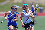 San Diego, CA 05/21/11 - Erin Quick (Rancho Bernardo #14) and Kacey McKinnon (Torrey Pines #5) in action during the 2011 CIF San Diego Section Division 1 Championship game between Rancho Bernardo and Torrey Pines.