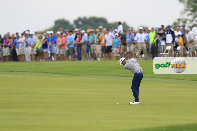 Chris Kirk (USA) plays his 2nd shot on the 4th hole during Thursday's Round 1 of the 2016 U.S. Open Championship held at Oakmont Country Club, Oakmont, Pittsburgh, Pennsylvania, United States of America. 16th June 2016.<br /> Picture: Eoin Clarke | Golffile<br /> <br /> <br /> All photos usage must carry mandatory copyright credit (&copy; Golffile | Eoin Clarke)