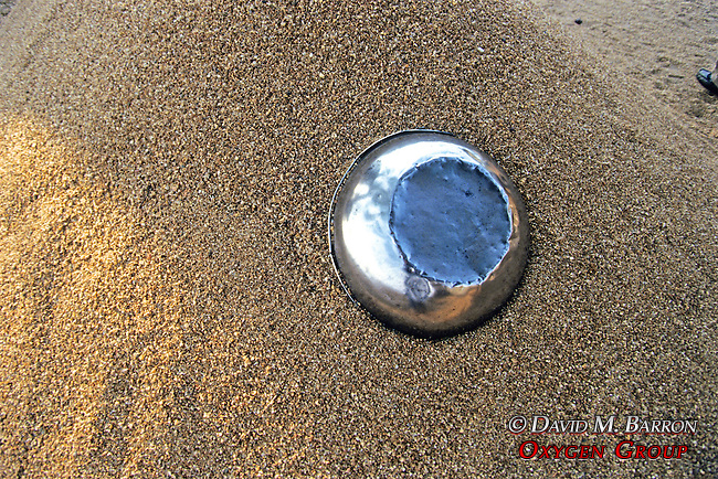 Bowl In Sand On Caronga Beach