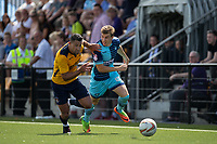 Dayle Southwell of Wycombe Wanderers & Nathan Smart of Slough Town during the pre season friendly match between Slough Town and Wycombe Wanderers at Arbour Park Stadium, Slough, England on 8 July 2017. Photo by Andy Rowland.