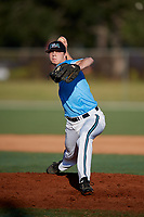 Matthew Dinkel during the WWBA World Championship at the Roger Dean Complex on October 19, 2018 in Jupiter, Florida.  Matthew Dinkel is a right handed pitcher from Bolingbrook, Illinois who attends Bolingbrook High School and is committed to South Carolina-Upstate.  (Mike Janes/Four Seam Images)
