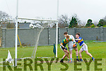 Eoin Moynihan, goal keeper and Neil O'Shea,The Sem Killarney, can only watch as the ball is fisted into the net by Cian Purcell, The Green, Tralee  when the sides met at the Austin Stacks Pitch, Tralee last Wednesday Nov 2, in the Munster collages championship.