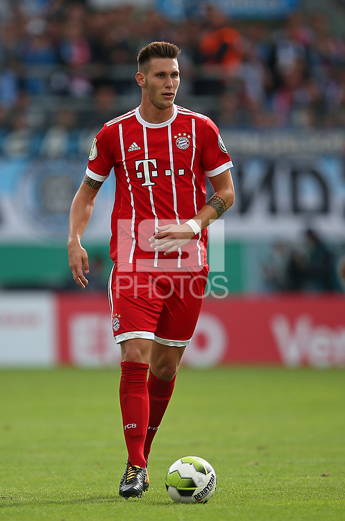 12.08.2017, Football DFB Pokal 2017/2018, 1. round, Chemnitzer FC - FC Bayern Muenchen, stadium an Gellertstrasse. Niklas Suele (Bayern Muenchen)  *** Local Caption *** &copy; pixathlon<br /> <br /> +++ NED + SUI out !!! +++<br /> Contact: +49-40-22 63 02 60 , info@pixathlon.de