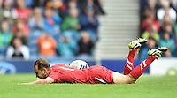 Wales's Luke Treharne scores his sides fourth try <br /> <br /> Kenya Vs Wales - men's placing 5-8 match<br /> <br /> Photographer Chris Vaughan/CameraSport<br /> <br /> 20th Commonwealth Games - Day 4 - Sunday 27th July 2014 - Rugby Sevens - Ibrox Stadium - Glasgow - UK<br /> <br /> © CameraSport - 43 Linden Ave. Countesthorpe. Leicester. England. LE8 5PG - Tel: +44 (0) 116 277 4147 - admin@camerasport.com - www.camerasport.com