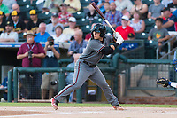 AFL East catcher Daulton Varsho (8), of the Salt River Rafters and the Arizona Diamondbacks organization, at bat during the Arizona Fall League Fall Stars game at Surprise Stadium on November 3, 2018 in Surprise, Arizona. The AFL West defeated the AFL East 7-6 . (Zachary Lucy/Four Seam Images)