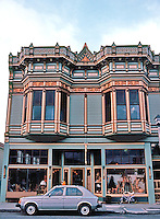 Ferndale CA:  475 Main St., Store & Office, 1880's. The style is Eastlake.  Photo '83.