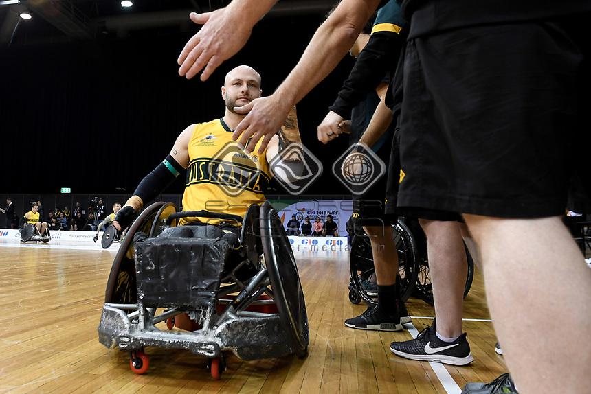 Chris Bond (AUS) vs Japan<br /> Australian Wheelchair Rugby Team<br /> 2018 IWRF WheelChair Rugby <br /> World Championship / Day 4<br /> Sydney  NSW Australia<br /> Wednesday 8th August 2018<br /> &copy; Sport the library / Jeff Crow / APC