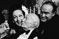 08 Jan 1973, Hollywood, Los Angeles, California, USA --- Dorothy Lamour and Bob Hope celebrating Adolph Zukor's 100th birthday. --- Image by © JP Laffont
