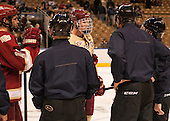 David Makowski (DU - 10), Patrick Brown (BC - 23) - The Boston College Eagles defeated the University of Denver Pioneers 6-2 in their NCAA Northeast Regional semi-final on Saturday, March 29, 2014, at the DCU Center in Worcester, Massachusetts.