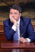 Roma, 24 Maggio 2016<br /> Il presidente del Consiglio Matteo Renzi ha firmato a Palazzo Chigi il protocollo di vigilanza sulle procedure per la bonifica delle aree di Bagnoli con il presidente dell&rsquo;Anac