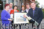 Pictured at the launch of the Killarney Rotary Wine and Art night which will be held in the Malton Hotel were Shirley Nagle, Kerry Stars, John Daly, Dalys Supervalu, Deirdre Fee, Be Aware Prevent Suicide, Katie O'Connell, president Killarney Rotary, Gert Maes and Tom Leslie. ....