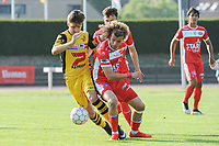 20190626 - OUDENAARDE , BELGIUM : Mouscron's (21) Delio Palmieri pictured during a friendly game between KSV Oudenaarde and Royal Excelsior Mouscron Moeskroen during the preparations for the 2019-2020 season , Wednesday 26 June 2019 ,  PHOTO STIJN AUDOOREN | SPORTPIX.BE