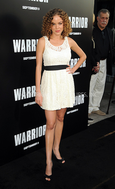 WWW.ACEPIXS.COM . . . . .  ....September 6 2011, LA....Actress Laura Kenley arriving at the premiere of 'Warrior' at the Arclight Hollywood on September 6, 2011 in Hollywood, California.....Please byline: PETER WEST - ACE PICTURES.... *** ***..Ace Pictures, Inc:  ..Philip Vaughan (212) 243-8787 or (646) 679 0430..e-mail: info@acepixs.com..web: http://www.acepixs.com
