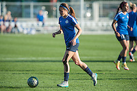 Kansas City, Mo. - Saturday April 23, 2016: FC Kansas City forward Shea Groom (2) warms up before hosting Portland Thorns FC at Swope Soccer Village. The match ended in a 1-1 draw.