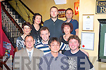 9378-9381.---------.Bon voyage.----------.Ichiro Ouchi of Alps,Millstreet,Co Cork(front centre)celebrated his departure from the company in Ireland to their Munich base,in Lord Kenmare's restaurant,Killarney last Friday night,also front is John Foley(Lt)and Thomás O'Leary(Rt)2nd row L-R Marie Walsh,Seamus Crowley&Trish O'Leary(back)L-R Ann Burke O'Donoghue,Egidijus Stuikys and Pat McCarthy.