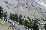 The breakaway group climb the Col d'Izoard during Stage 18 of the 2019 Tour de France running 208km from Embrun to Valloire, France. 25th July 2019.<br /> Picture: ASO/Pauline Ballet | Cyclefile<br /> All photos usage must carry mandatory copyright credit (© Cyclefile | ASO/Pauline Ballet)