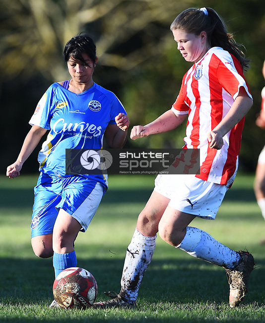 NELSON, NEW ZEALAND - AUGUST 12: Women's Football - FC Nelson v Nelson Suburbs on August 12, 2017 in Nelson, New Zealand. (Photo by: Chris Symes/Shuttersport Limited)