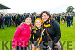 Laura O'Shea, Leah and Aine McMahon and  Dr Crokes supporters at the Senior County Football Championship final at Fitzgerald Stadium on Sunday.