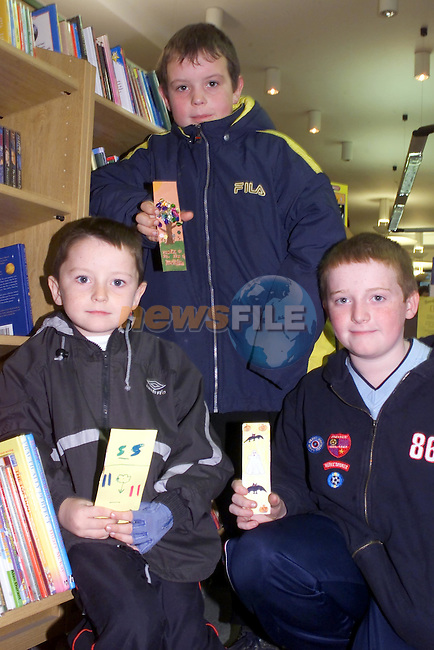 Stephen Moore, Christopher Bell and David Smith in the Library in Duleek..Picture Fran Caffrey Newsfile...This Picture is sent to you by:..Newsfile Ltd.The View, Millmount Abbey, Drogheda, Co Louth, Ireland..Tel: +353419871240.Fax: +353419871260.GSM: +353862500958.ISDN: +353419871010.email: pictures@newsfile.ie.www.newsfile.ie