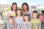 Odhran Sloan, Kathy Desmond Killorglin, Niamh, Carmel, Roisin and Eoghan Llwelyn Kenmare enjoying the Flavours of Killorglin fair on Saturday