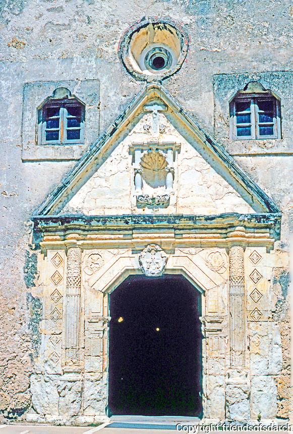 San Antonio:  Mission Concepcion, doorway.